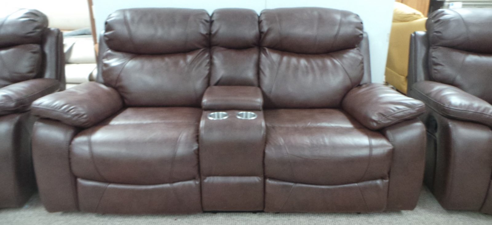 Leather 3 1 Suite With Console